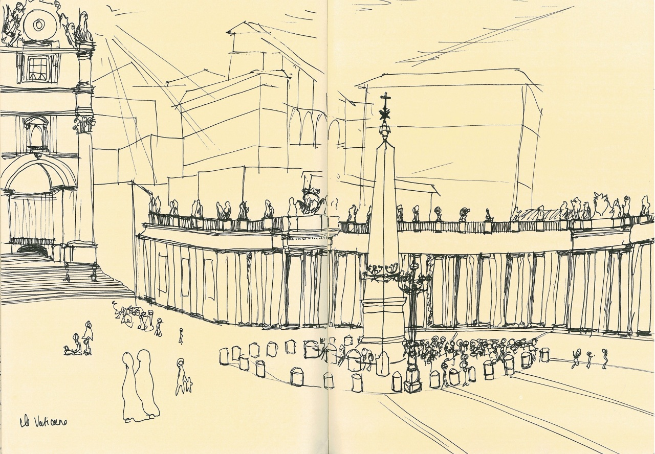 Problems of proportion evident in my interpretation of St. Peter's Square