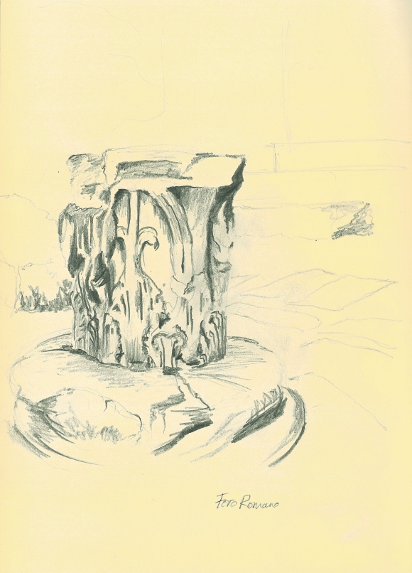 A sketch of an abandoned capital in the Roman Forum