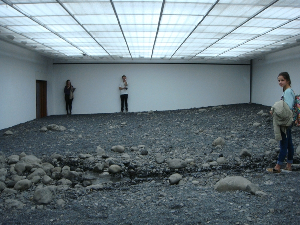 Danish artist Olafur Eliasson's Louisiana Riverbed at the Louisiana Modern Art Museum.