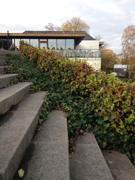 Steps outside the Louisiana Modern Art Museum