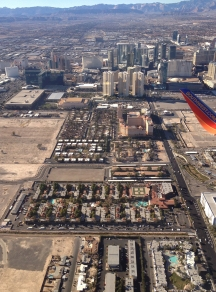 Aerial of the Las Vegas Strip