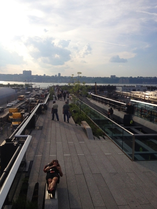 The beginning of the last section of the Highline